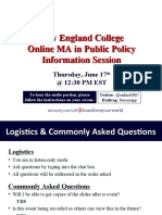 New England College MA in Public Policy June 17th Information Session
