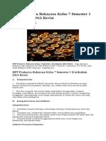 RPP Prakarya Rekayasa Kelas 7 Semester 1 Kurikulum 2013 Revisi