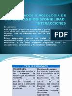 Preparados y Posologia de Las Drogas Biodisponiblidad