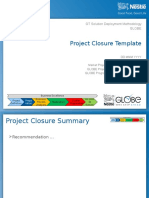 SDM - Project Closure