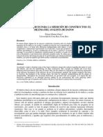 Escalas o Índices Para La Medición de Constructos - Montero - 2008