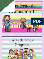 Cuaderno Evaluación 1° Betty Pedraza