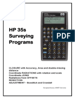 HP35s Surveying Programs
