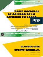 Primer Informe Nacional de Calidad de La Atención en Salud INCAS