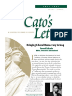 Bringing Liberal Democracy to Iraq, Cato Cato's Letter