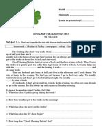 English Challenge 2015-5th Grade