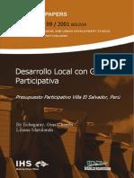 SINPA 09 Echegaray Chambi (2001) Desarrollo Local Con GestionParticipativa