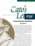 Not under My First Amendment, Cato Cato's Letter