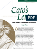 From Limited Government to Leviathan, Cato Cato's Letter