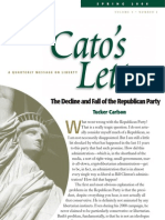 The Decline and Fall of the Republican Party, Cato Cato's Letter