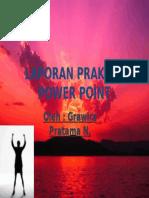 Laporan Praktek Power Point