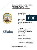 SILABOS DE DISEÑO Y SEGUIMIENTO DE PROYECTOS