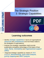 The Strategic Position Strategic Capabilities