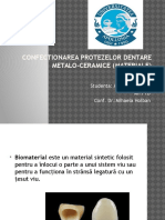 Confectionarea Protezelor Dentare Metalo Ceramice Materiale