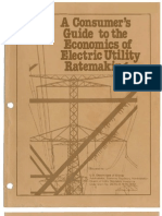 A Consumer's Guide to the Economics of Electric Utility Ratemaking