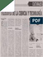 Diario Noticias Congreso de Filosofía de la Ciencia y la Tecnología