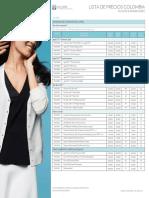 Lista de Precios May 2016 COLOMBIA