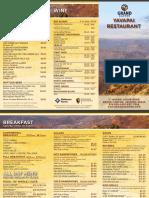 Yavapai Lodge Restaurant Menu 2015 (1)