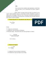 Tiempo de concentración y otros cálculos de una cuenca hidrológica.