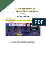 Panduan Sistem Pendaftaran Cagar Budaya User Umum