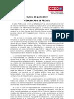 El AREA PÚBLICA de los Sindicatos CCOO y UGT