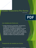 Estados Financieros Pro-Forma