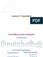 Molecular Cell Biology 3 Translation