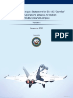 "Draft EIS for EA-18G ""Growler"" Airfield Operations at Naval Air Station (NAS) Whidbey Island Complex Volume I"