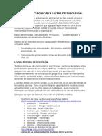 REVISTAS ELECTRÓNICAS Y LISTAS DE DISCUSIÓN