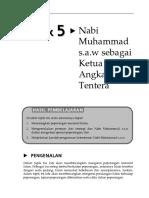 Topik 5 Nabi Muhammad SAW Sebagai Ketua Turus Angkatan Tentera (1)