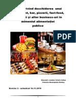 Ghid deschidere restaurant fast-food