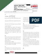 Std 8 - Ganit Pravinya 2015 Test Paper