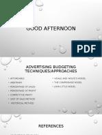 Advertisement Budgeting