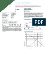 7851A Exhaust Fan Selection Data Sheet