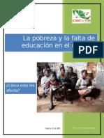 La Pobreza y Falta de Educacio en El Mundo