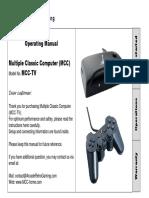MCC TV Operating Manual
