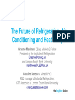 The Future of Refrigeration Air Conditioning and Heat Pumps