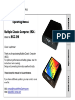 MCC 216 Operating Manual Englisch