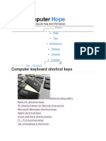 Keybord Shortcut Keys
