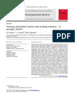 Entrenamiento de Control de La Atención y Memoria de Trabajo