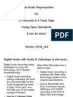 Digital Audio on LPs (Draft 1, Winter 2016)