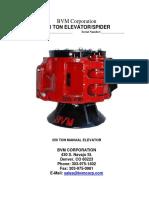 250 Ton Spider Elevator Maintenance Manual