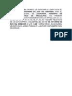 Acta de Asamblea General de Ejidatarios