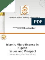 Alhuda cibe -Islamic Micro-finance in Nigeria
