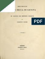 Dell'origine della zecca di Genova e di alcune sue monete inedite / per Domenico Promis