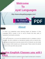 Al-hayat Language Centre