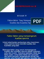 4. Faktor2 Yg Mempengaruhi Kualitas dan Kunatitas Sperma.ppt