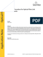 Field Test Procedure for Optical Fibre Link