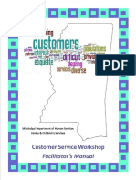 Diligent Recruitment and Retention Grant Customer Service Workshop Facilators Manual