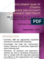 Trainings for Branch Accountants - September 2016